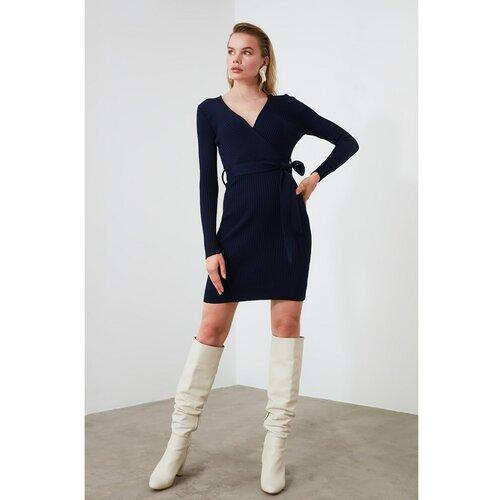 Trendyol haljina od trikotaže s mornarskim ovratnikom  Cene