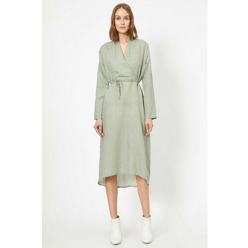 Koton Ženska zelena haljina na pruge  Cene
