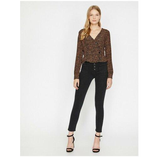 Koton Ženske crne pantalone crne boje  Cene