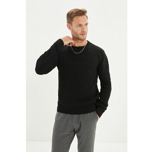 Trendyol Crni muški džemper s tankim krojem s grlom  Cene