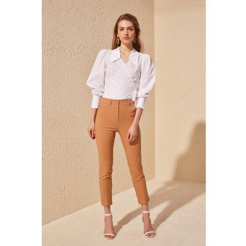 Trendyol Ženske pantalone Basic bela | narandžasta | krem  Cene