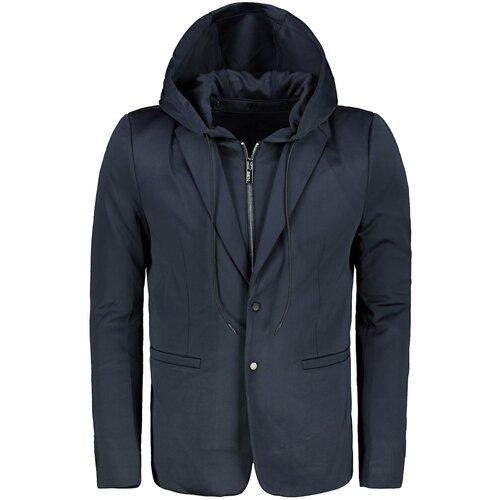 Ombre Odjeća Muška ležerna jakna sa kapuljačom M156 crna | plava | bijela  Cene