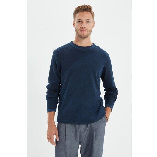 Trendyol Tamnoplavi muškarci oprani džemper sa posadom oko vrata  Cene