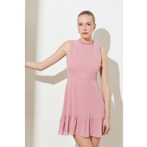 Trendyol Rose Dry Ruffl haljina ružičasta  Cene