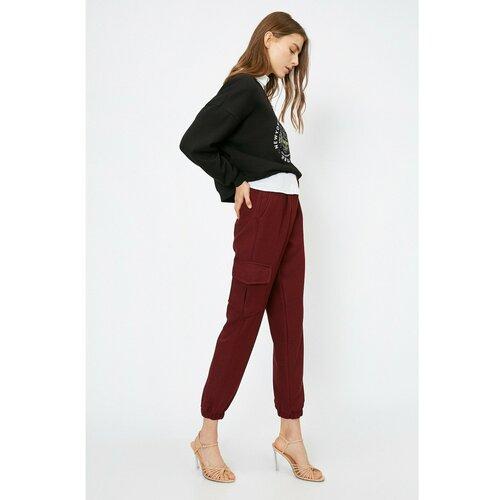 Koton Ženske bordo hlače  Cene