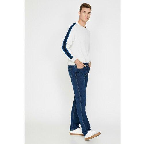 Koton Mark Straight Jeans Blue siva  Cene