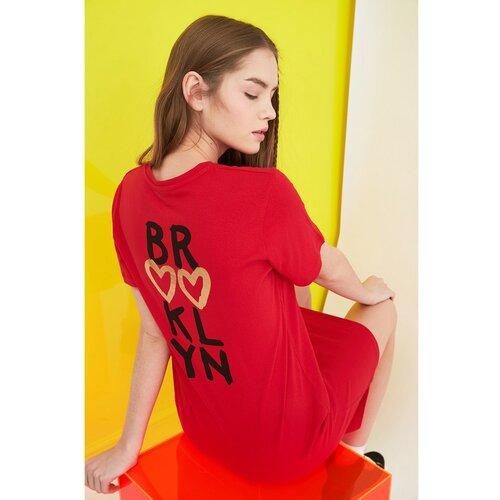 Trendyol Ženska haljina Štampano crveno Slike