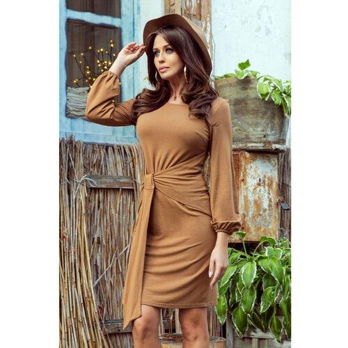 NUMOCO Ženska haljina 275-1 Karamel  Cene