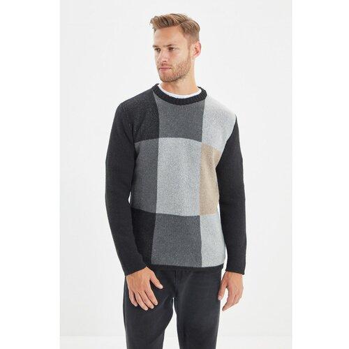Trendyol Crni muški džemper s tankim krojem za muškarce  Cene
