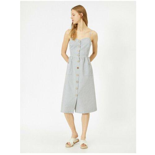 Koton Ženska haljina sa detaljima od sivog dugmeta  Cene