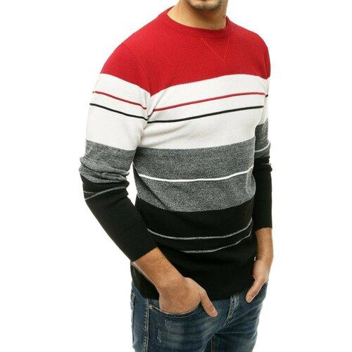 DStreet Crveni muški džemper WX1677 crni bijela   siva   Crveno  Cene