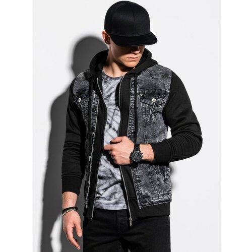 Ombre Muška jakna C322 crna siva  Cene
