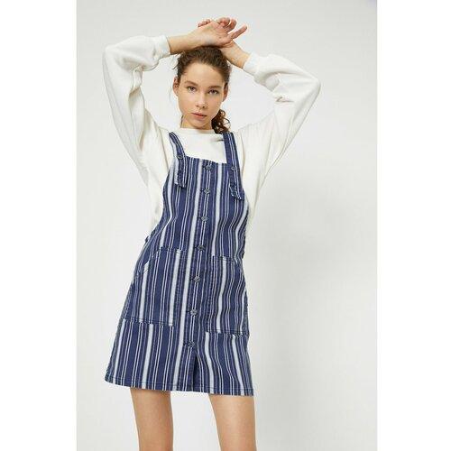 Koton Ženska haljina s detaljima plavog dugmeta  Cene