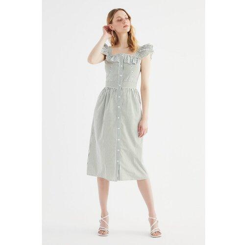Trendyol Ženska haljina Nacy grey kaki  Cene