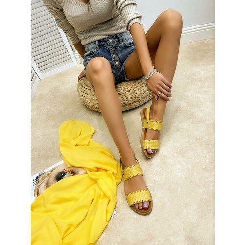 Hop Hop 16408 - kožne sandale ariyah - žuta  Cene