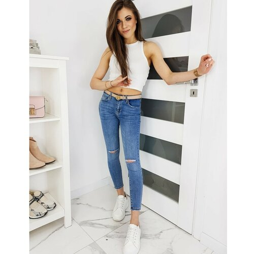 DStreet Ženske skinny fit LEVEL plave traperice UY0365 plave | siva | smeđa  Cene