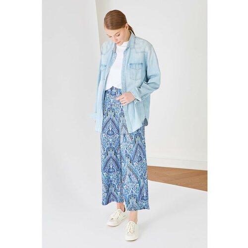 Trendyol Plave hlače s cvjetnim uzorkom bijela  Cene