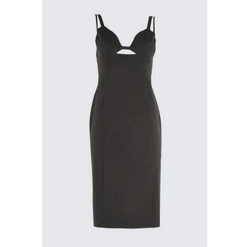 Trendyol Detaljna haljina s crnim ovratnikom bela | siva  Cene