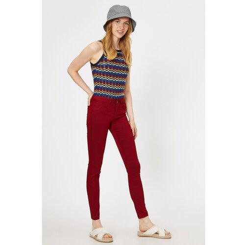 Koton Ženske tamnocrvene crvene hlače  Cene