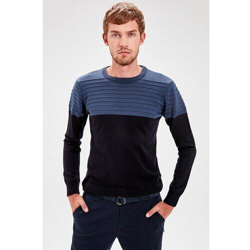 Trendyol Muški džemper Trikotaža crna plava  Cene