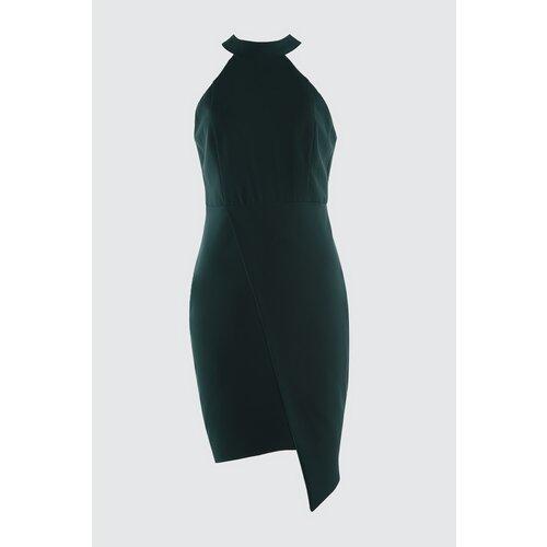 Trendyol Ženska haljina Asimetrični kroj crne boje bijela  Cene