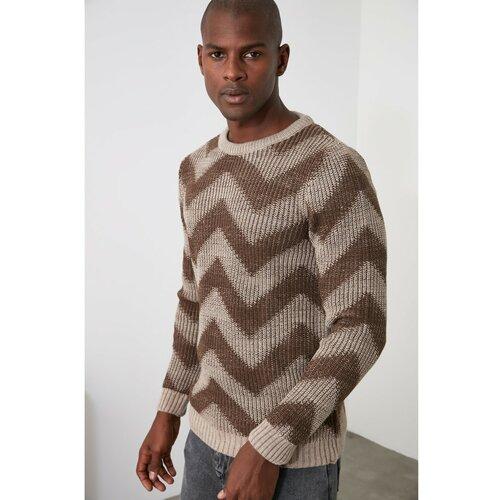 Trendyol Mink džemper za bicikl s ovratnikom za muškarce braon | krem  Cene