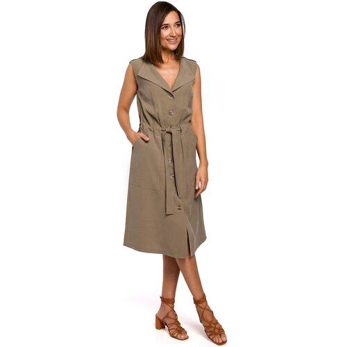 Stylove Ženska haljina S208 kaki braon  Cene