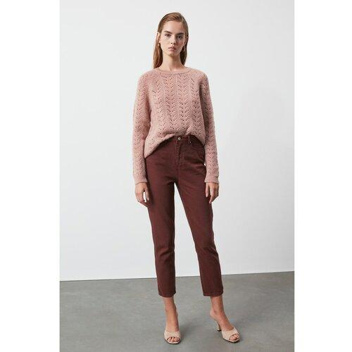 Trendyol Ženske farmerke High Waist braon | tamnocrvena | ružičasta Slike
