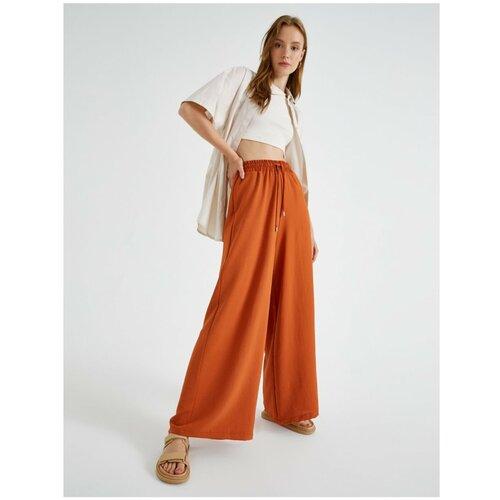 Koton Ženske hlače sa širokim nogama i pločicama Kravata za struk  Cene