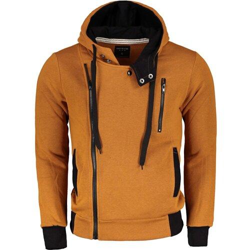 Ombre Muški duks B297 crna | bela | siva | narandžasta | ružičasta | senf  Cene