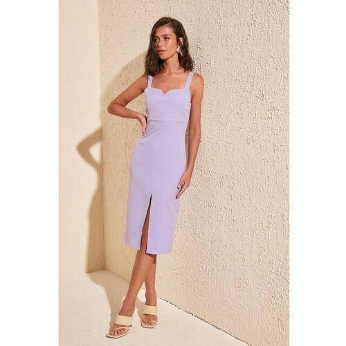 Trendyol Ženska haljina Midi bela | siva | narandžasta | ljubičasta  Cene