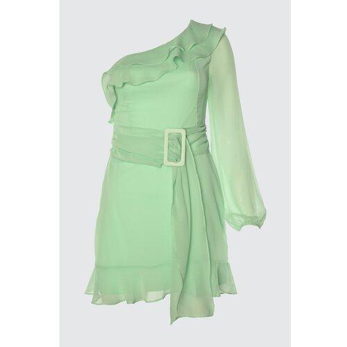 Trendyol Detaljna haljina Trendyol Mint Belt  Cene