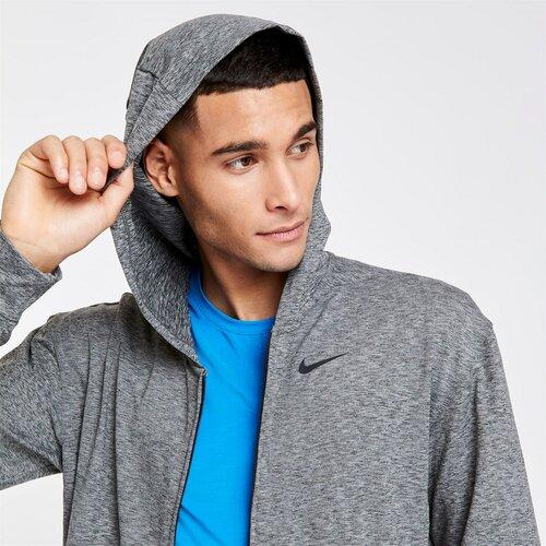Nike Yoga Dri-FIT muška siva sa kapuljačom na cijeli patentni zatvarač  Cene