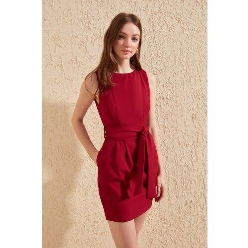 Trendyol Ženska haljina Detaljna krema | tamnocrvena | Crveno  Cene