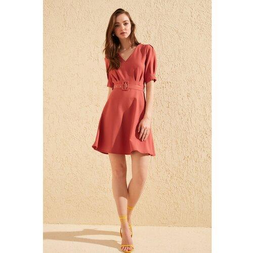 Trendyol Ženska haljina Belt detailed narandžasta | krem | tamnocrvena | crvena  Cene