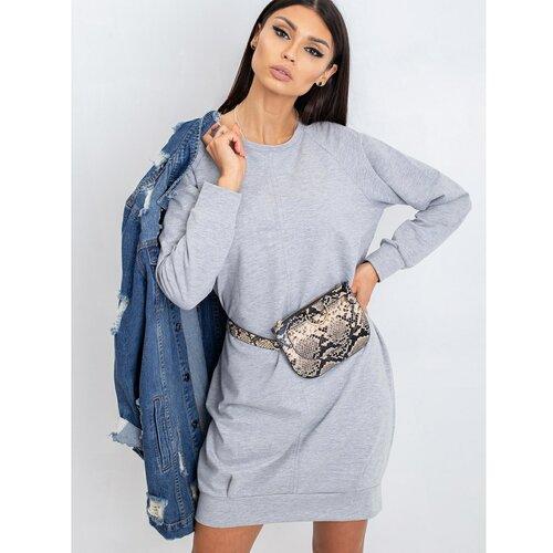 Fashionhunters Siva pamučna haljina  Cene