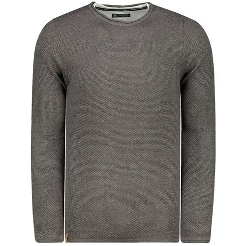 Ombre Muški džemper E121 crni siva  Cene