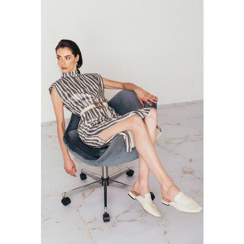 Mona midi prugasta haljina sa šljokicama 54116301-1  Cene