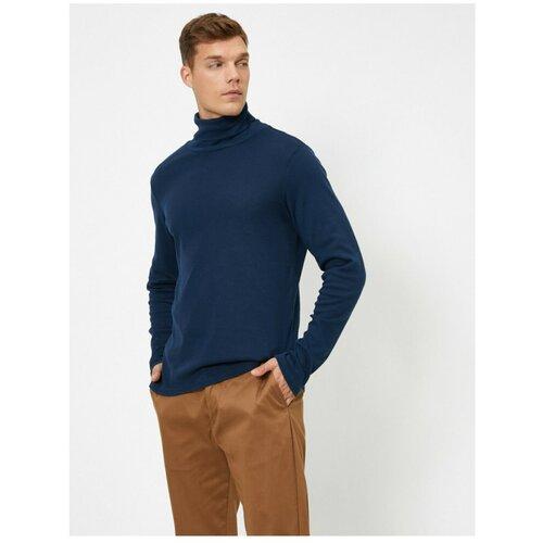 Koton Muška tamnoplava majica dugih rukava sa majicom plava  Cene