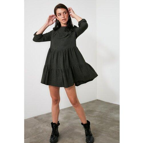 Trendyol Khai haljina zamašnjaka crna siva  Cene