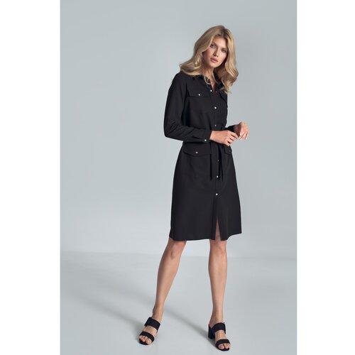 Figl Ženska haljina M706 crna   siva  Cene