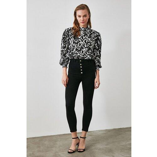 Trendyol Ženske farmerke High waist crna | siva  Cene