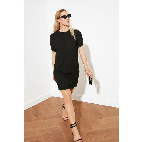 Trendyol Crna osnovna haljina s balon rukavima  Cene