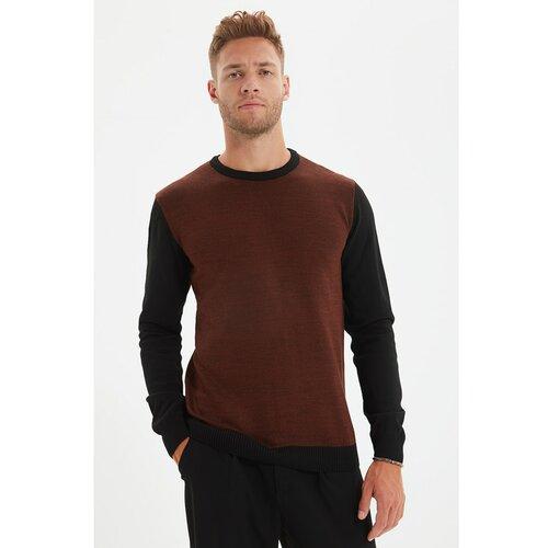 Trendyol Cimetov muški pleteni džemper s tankim krojem s tankim krojem i prugom  Cene