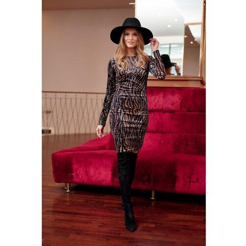 Roco Ženska haljina SUK0313 crna | smeđa  Cene
