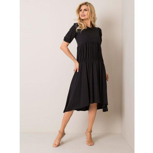 Fashionhunters RUE PARIS Crna midi haljina crna krema  Cene