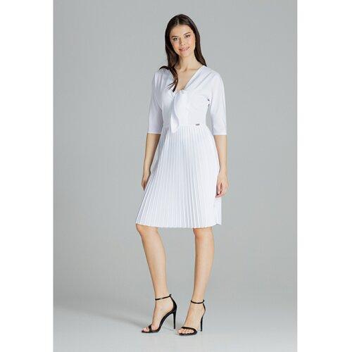 Lenitif Ženska haljina L076 bela   siva  Cene