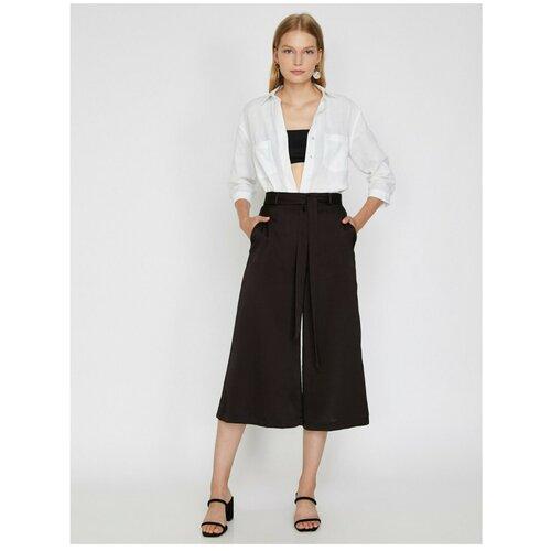 Koton Ženske pantalone sa smeđim pojasom  Cene