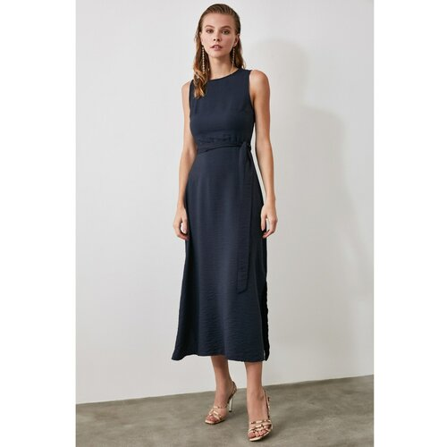 Trendyol Ženska haljina Pojas detaljno plava Slike