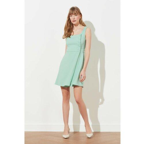 Trendyol Ženska haljina Dugme Detaljno smeđe | kaki | krema | pink  Cene